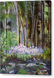 Acrylic Print featuring the painting Gateway At The Balsams by Michael Daniels