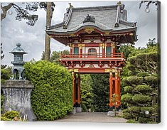 Gateway - Japanese Tea Garden - Golden Gate Park Acrylic Print by Adam Romanowicz