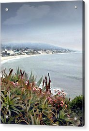 Gathering Coastal Storm Acrylic Print by Elaine Plesser