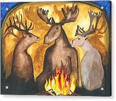 Gathering Of Ancestors Acrylic Print by Cat Athena Louise