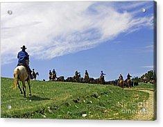 Gathering The Herd. Acrylic Print