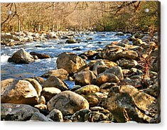 Gatlinberg River Acrylic Print by Donald Williams