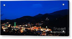 Gatlinburg Skyline At Night Acrylic Print by Nancy Mueller
