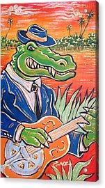 Gator Boogie Acrylic Print by Robert Ponzio