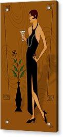 Gatsby Girl Acrylic Print by Troy Brown
