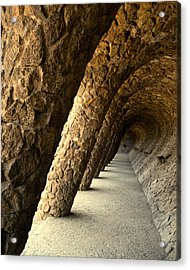 Gaudi Columns Acrylic Print by Todd Hartzo