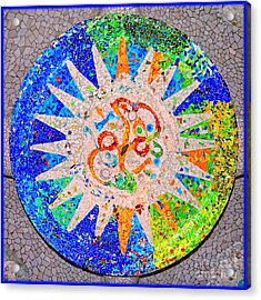 Gaudi Detail Blue Acrylic Print