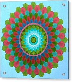 Gaudy Mandala Acrylic Print by Vlatka Kelc