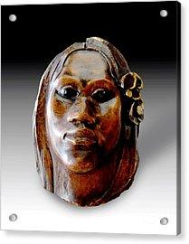 Gauguin Sculpture - Tehura Acrylic Print by Pg Reproductions