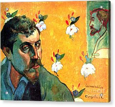 Gauguin Self Portrait - As Jean Valjean Acrylic Print by Pg Reproductions