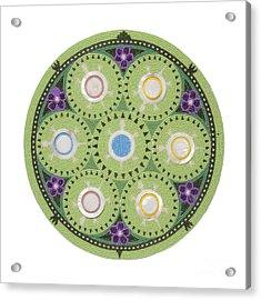Gavino's Cradleboard Beadwork Acrylic Print