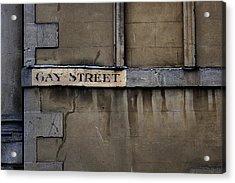 Gay Street Denise Dube Acrylic Print
