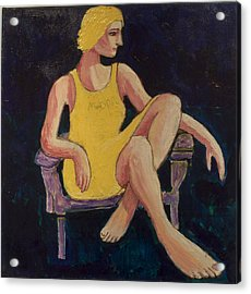 Acrylic Print featuring the painting Gaye by Clarence Major