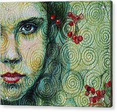 Gaze Acrylic Print by Oksana Zhelisko