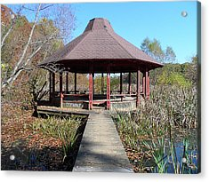 Acrylic Print featuring the photograph Gazebo by Philomena Zito
