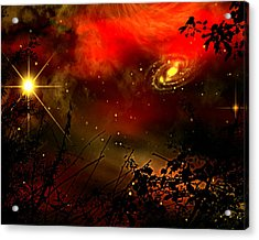 Acrylic Print featuring the painting Gazing The Galaxy by Persephone Artworks