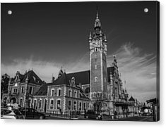 Gdansk Main Station Bw Acrylic Print by Adam Budziarek