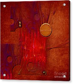 Acrylic Print featuring the digital art Gear by Alexa Szlavics