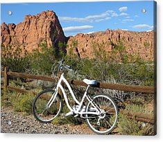 Acrylic Print featuring the photograph Geared Up by Jean Marie Maggi