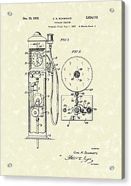 Gears 1935 Patent Art Acrylic Print
