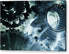 Gears And Cogwheels Acrylic Print
