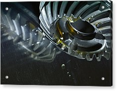 Gears Cogs And Oil Industry Acrylic Print by Christian Lagereek