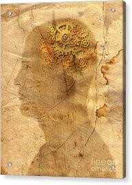 Gears In The Head Acrylic Print