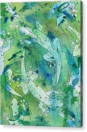 Geckos At Play Acrylic Print