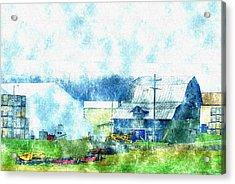 Gee Farm Orchard Barns And Outbuildings   Acrylic Print by Rosemarie E Seppala