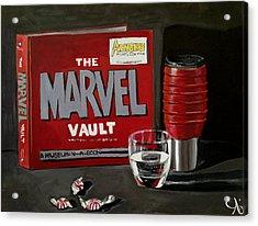 Geek Obsession - Still Life Acrylic Painting - Marvel Comics - Ai P. Nilson Acrylic Print