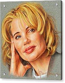 Geena Davis Portrait Acrylic Print by Victor Powell
