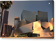 Gehry Tones Acrylic Print by Chuck Kuhn