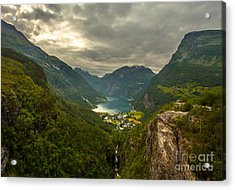 Acrylic Print featuring the photograph Geiranger by Rose-MariesPictures
