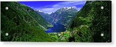 Geirangerfjord, Flydalsjuvet, More Og Acrylic Print