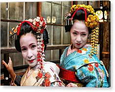 Acrylic Print featuring the photograph Geisha 2 by John Swartz