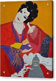 Geisha 2 Acrylic Print by Judi Goodwin