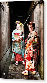 Acrylic Print featuring the photograph Geisha Alley by John Swartz