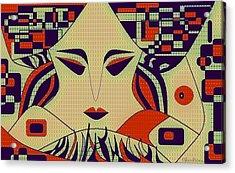 Geisha Acrylic Print by Chandrima Dhar