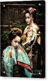 Acrylic Print featuring the photograph Geisha Garden by John Swartz