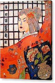 Geisha Girl Acrylic Print by Diane Fine