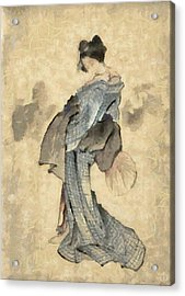 Geisha Acrylic Print by Gun Legler