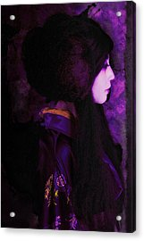 Geisha In Purple And Pink Acrylic Print