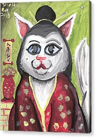 Geisha Kitty Acrylic Print