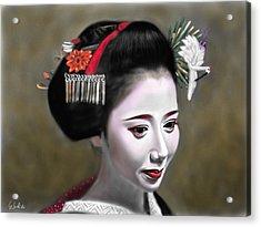 Geisha No.145 Acrylic Print by Yoshiyuki Uchida