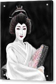 Geisha No.155 Acrylic Print by Yoshiyuki Uchida