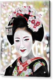 Geisha No.168 Acrylic Print by Yoshiyuki Uchida