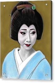 Geisha No.179 Acrylic Print by Yoshiyuki Uchida