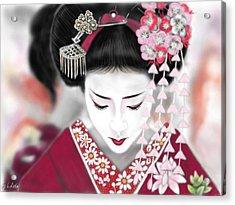 Geisha No.185 Acrylic Print by Yoshiyuki Uchida