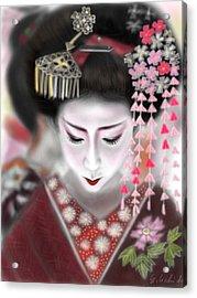 Geisha No.2 Acrylic Print by Yoshiyuki Uchida