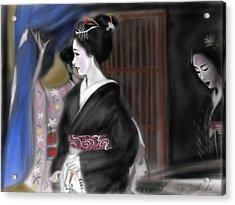 Geisha No.4 Acrylic Print by Yoshiyuki Uchida